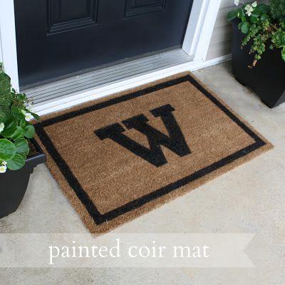 Live a Little Wilder: painted coir mat {tutorial}