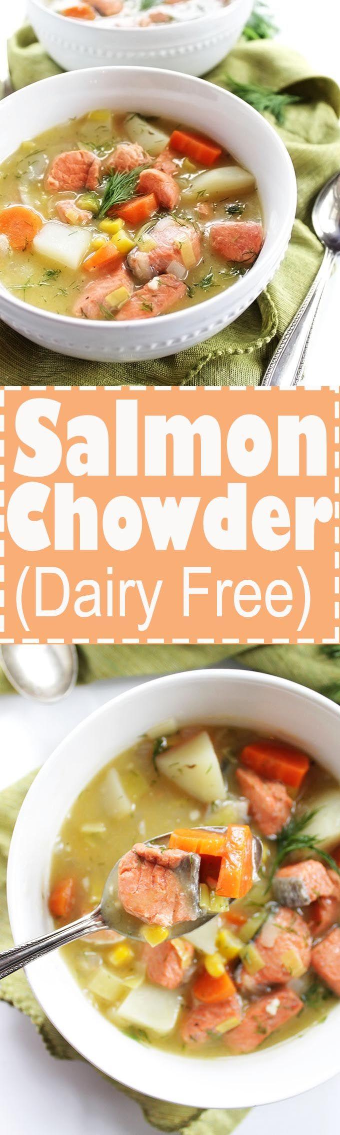 Dairy Free Salmon Chowder (gf)