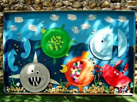 Ο ΒΥΘΟΣ# ΚΑΤΑΣΚΕΥΗ ΜΕ ΧΑΡΤΙΝΑ ΠΙΑΤΑ# summer craft# paper plates