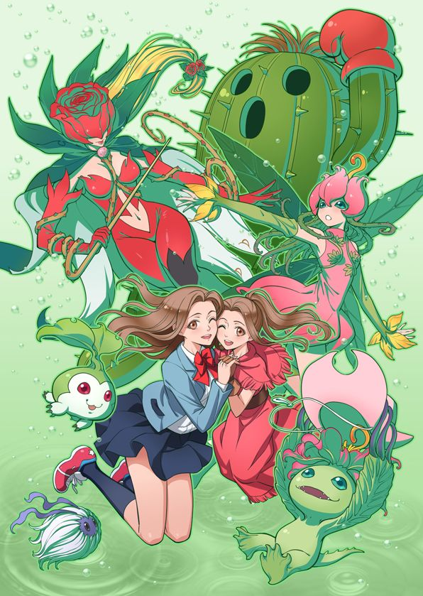 Digimon - Mimi with Palmon's Digivolutions by eclosion