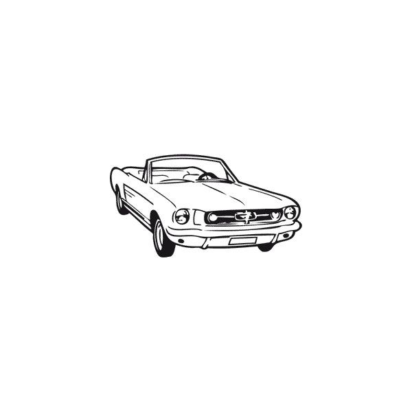 tatouage temporaire tattoo ford mustang