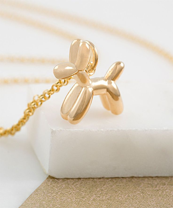Look at this Gold Balloon Dog Pendant Necklace on #zulily today!