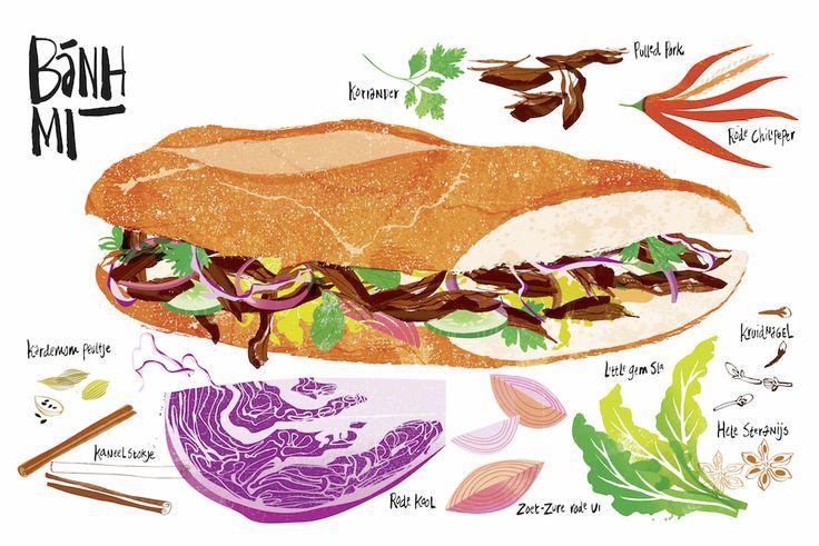 #foodillustration#studiogarcia#enoki#illustration