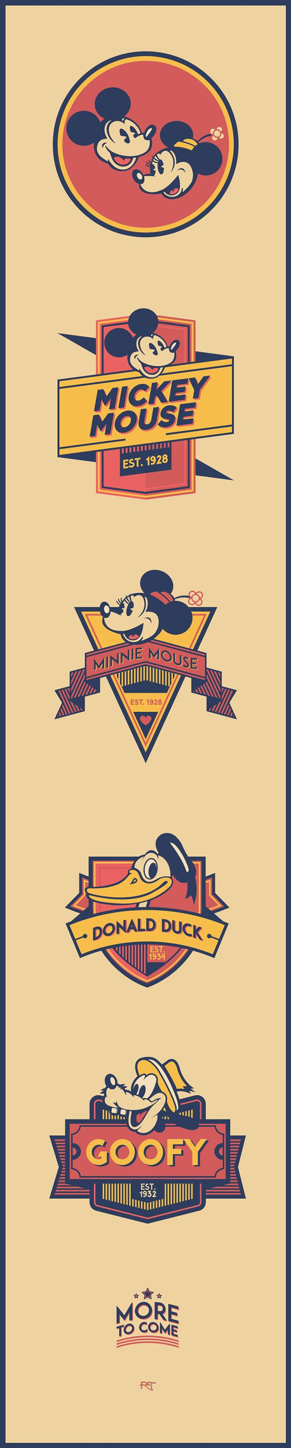 Disney Character Logos on Behance