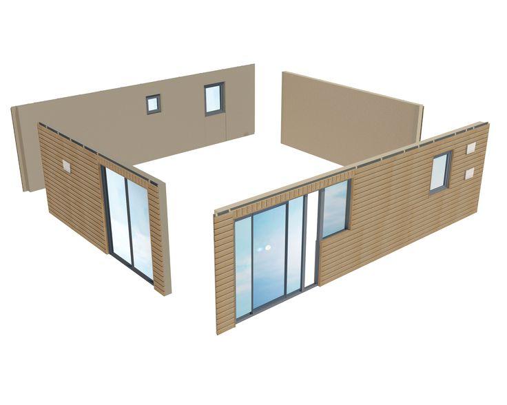 Extension de maison, studio, chalet préfabriqué, chalet en kit