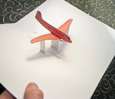 airplane pop up card