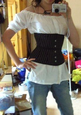DIY pirate blouse
