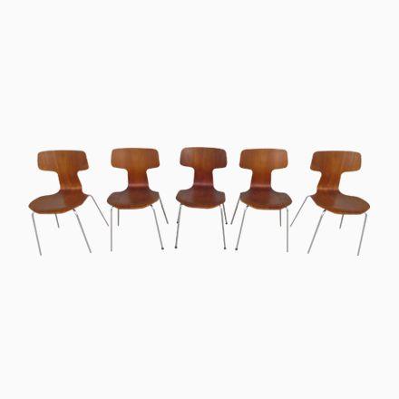 Modell 3103 Hammer Stühle von Arne Jacobsen für Fritz Hansen, 1976, 5e... Jetzt bestellen unter: https://moebel.ladendirekt.de/kueche-und-esszimmer/stuehle-und-hocker/esszimmerstuehle/?uid=1621f923-6801-52d9-baaa-b12a5540ab9d&utm_source=pinterest&utm_medium=pin&utm_campaign=boards #kueche #sets #esszimmerstuehle #esszimmer #hocker #stuehle
