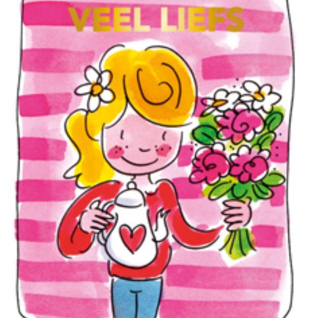 Blond Amsterdam thee kaart Liefs