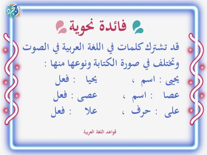 Pin By Nooor Alajme On قواعد Islam Facts Arabic Language Arabic Lessons