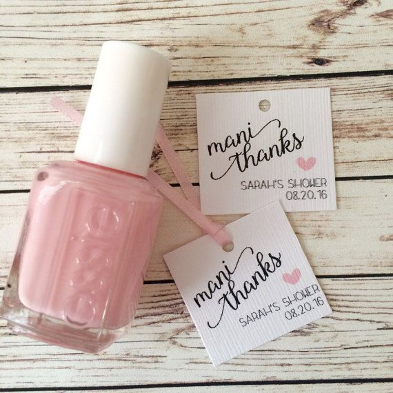 Baby Shower / Bridal Shower nail polish tags by AFairyPaperShop