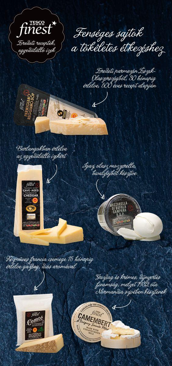 Fenséges sajtok a Tesco finest* termékei között! Melyiket kóstoltad már? #tescomagyarország #tescofinest #finest #sajt #recept #reggeli