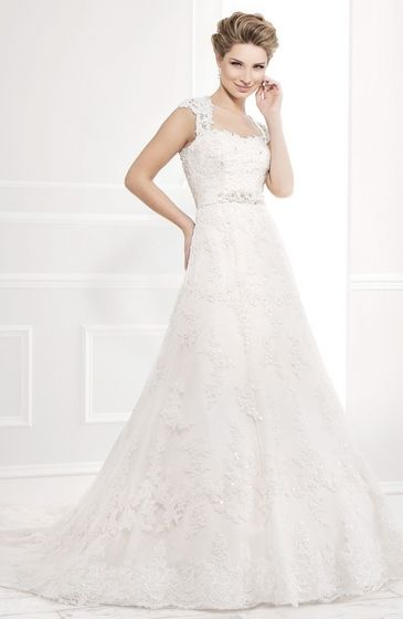 Style:11399 a-line gown lace