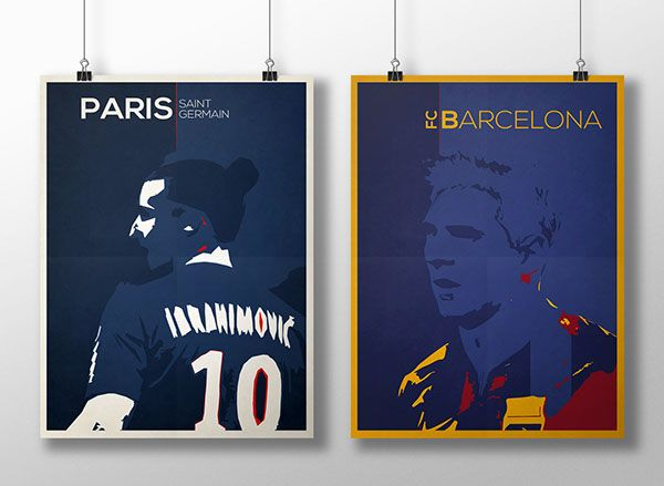 Match of the day on Behance #posterdesign #PSG #Barcelona #Barca #Paris #footballposter #soccer #Spain #France #Messi #LionelMessi #Zlatan #Ibrahimovic #poster #graphicdesign #artwork #digitalArt #PSD #Adobe #Illustrator #VisuelArt