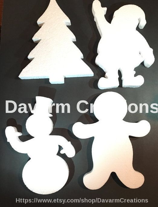 XMAS Figures Foam Package Holidays Christmas by DavarmCreations
