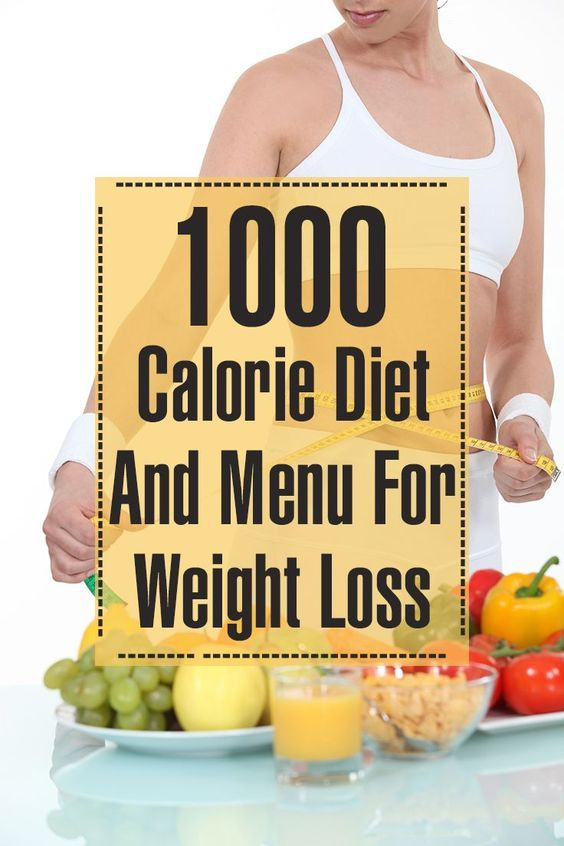 how to eat a 1000 calorie diet