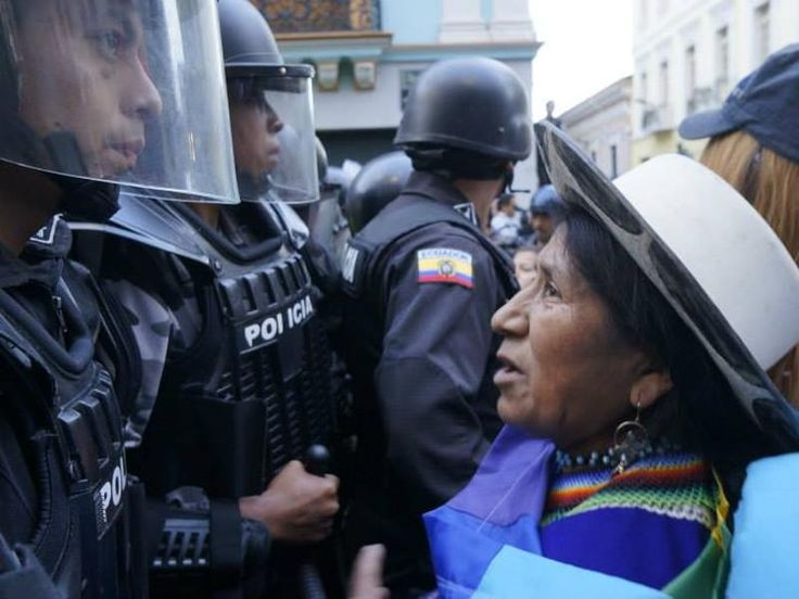 In August the Ecuadorian police and military brutally repressed and arrested indigenous people who were mobilizing to defend their territory and rights. Of the hundreds detained, fifteen still linger in jail without due process and, in some cases, without legal counsel. We urge you to call upon President Rafael Correa to end the criminalization of indigenous leaders and guarantee due process for all.