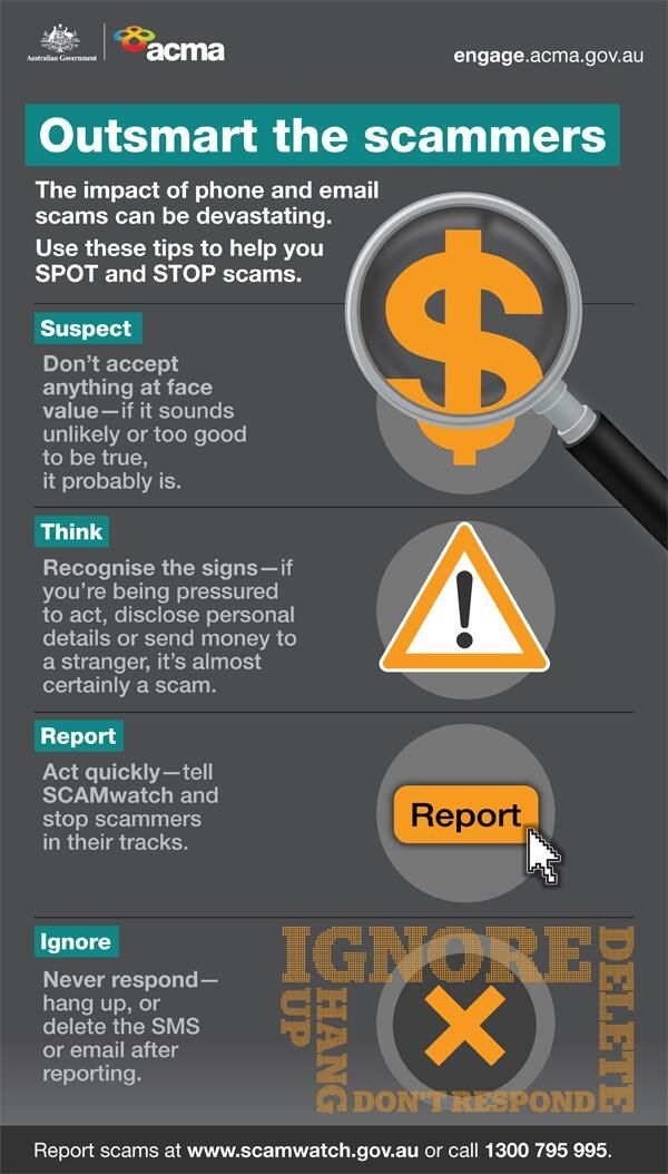 Outsmart the scammers – Use these tips to help you SPOT and STOP scams #SSOW2014 #scams #infographic pic.twitter.com/rgiUo3t66u