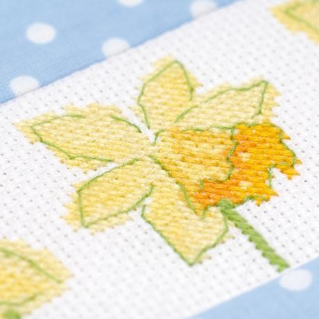 I like the watercolor effect  Daffodil delight! Free cross stitch project