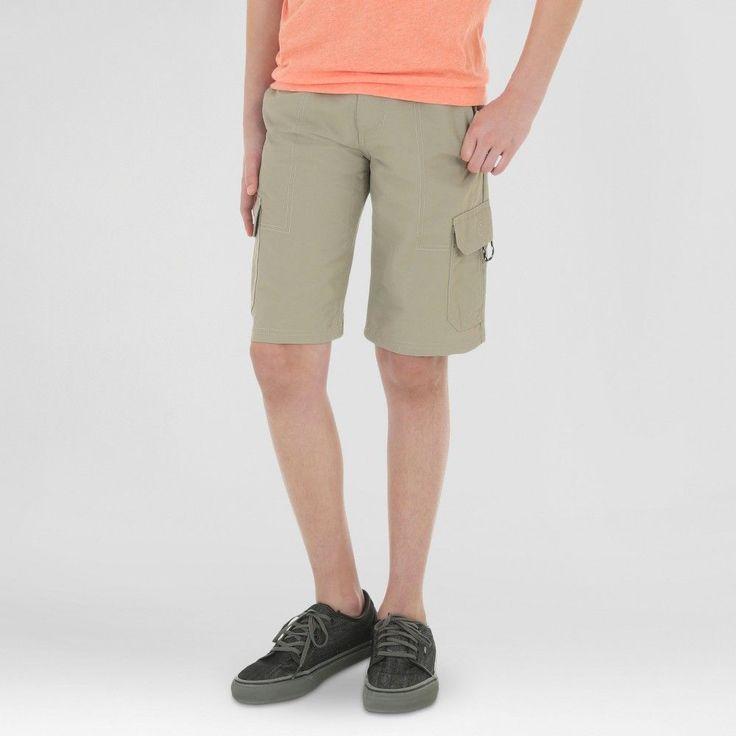 Wrangler Boys' Explore Outdoor Cargo Shorts Khaki (Green) 14, Boy's