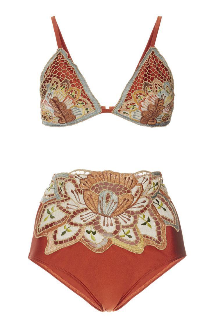 Agua de Coco Embroidered Triangle Bikini Top, $230; http://modaoperandi.com Agua de…