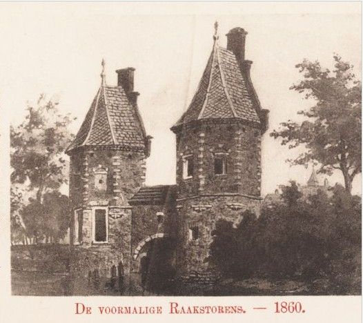 Raakstorens in 1860