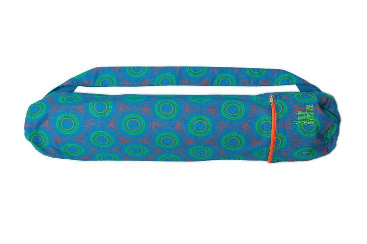 Pinwheel Blue Yoga mat Bag, Shweshwe Yoga Mat Bag, Yoga Gear, Yoga Mats and Bags…