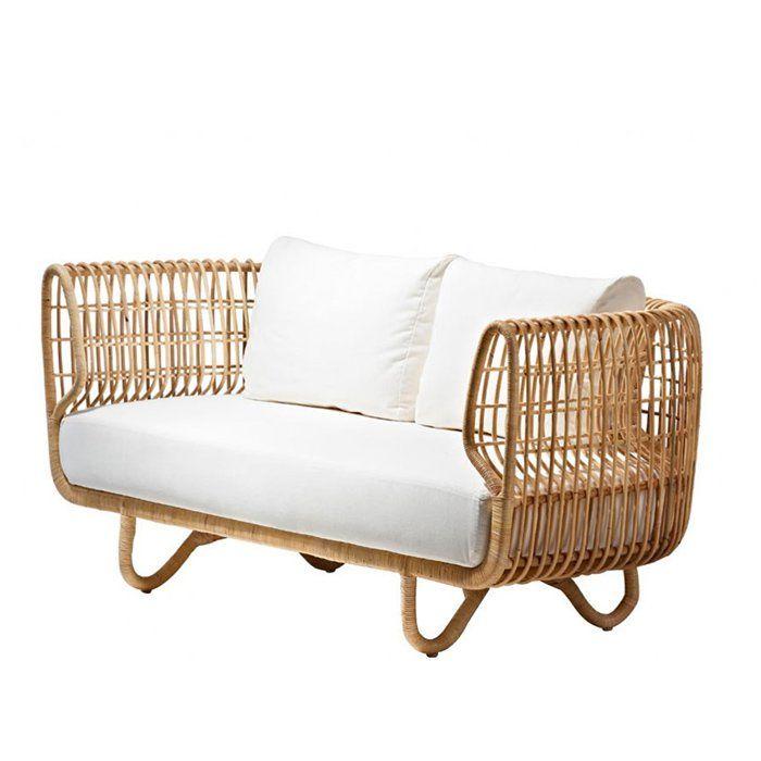 canap 2 places en rotin chez cane line osier rotin cannage wicker rattan pinterest. Black Bedroom Furniture Sets. Home Design Ideas