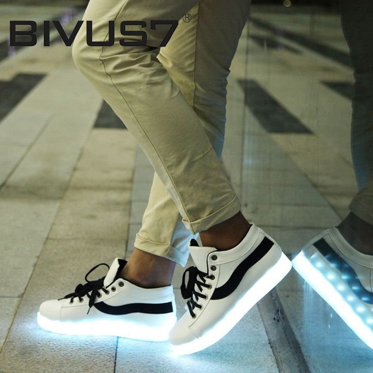 Led Shoes for Adults Fashion Women/Men's Light Up Shoes For Adults Plus  Size Black