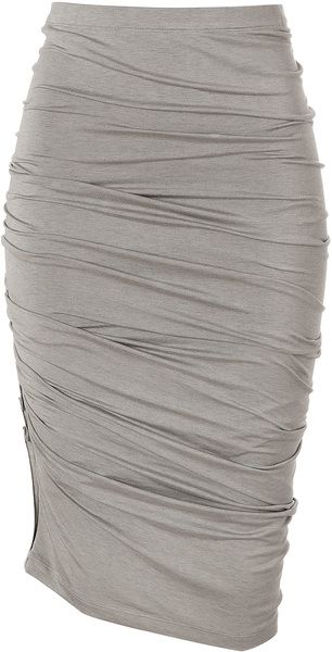 Donna Karan New York Hemp Crushed Skirt