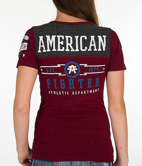 American Fighter AFFLICTION Womens T-Shirt STANFORD Tattoo Biker Sinful S-L $36 #Affliction #GraphicTee