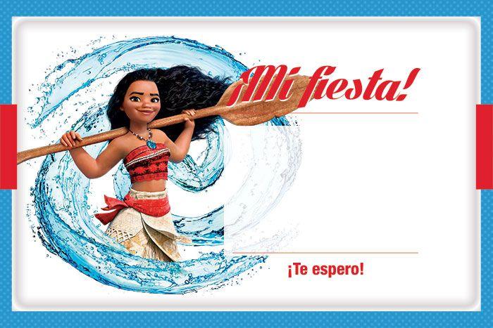 Invitación Moana Imprimible Gratis Para Llenar Fiesta Kit