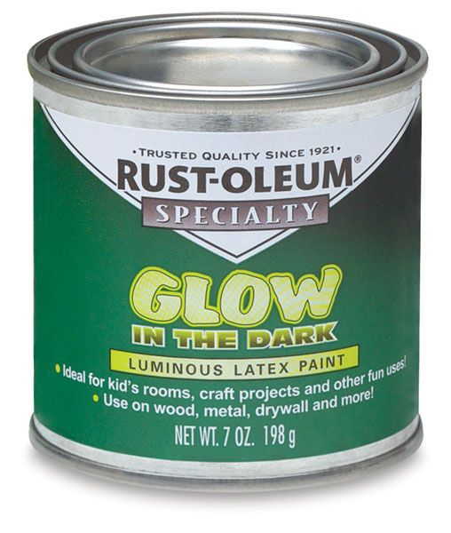 rust oleum glow in the dark brush on paint blick art materials paint. Black Bedroom Furniture Sets. Home Design Ideas