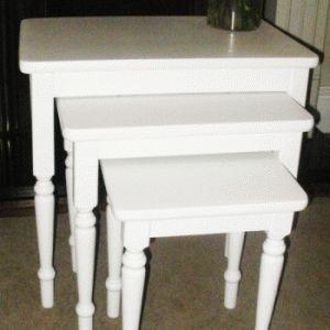 17 best nesting tables images on pinterest nesting tables painted hand painted nest of tables soft white watchthetrailerfo