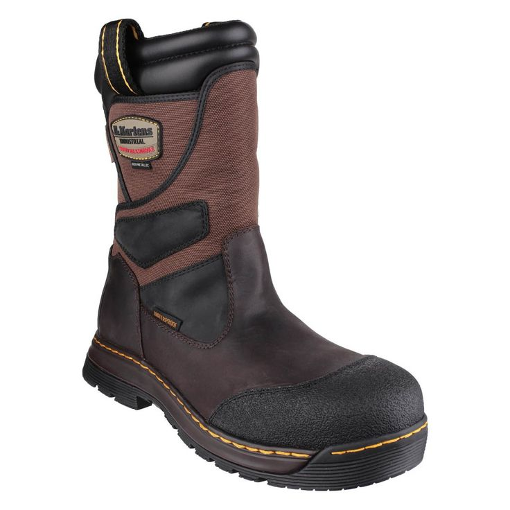 Dr Martens Turbine Waterproof and Metal Free Brown Safety Rigger Boots