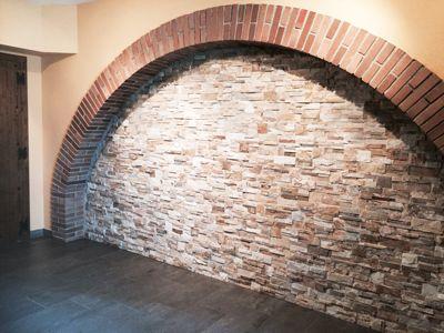 Arc en obra vista i pedra. Construccions Madrona. www.construmadrona.com