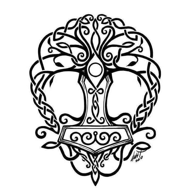 Mjolnir Yggdrasil Tattoo