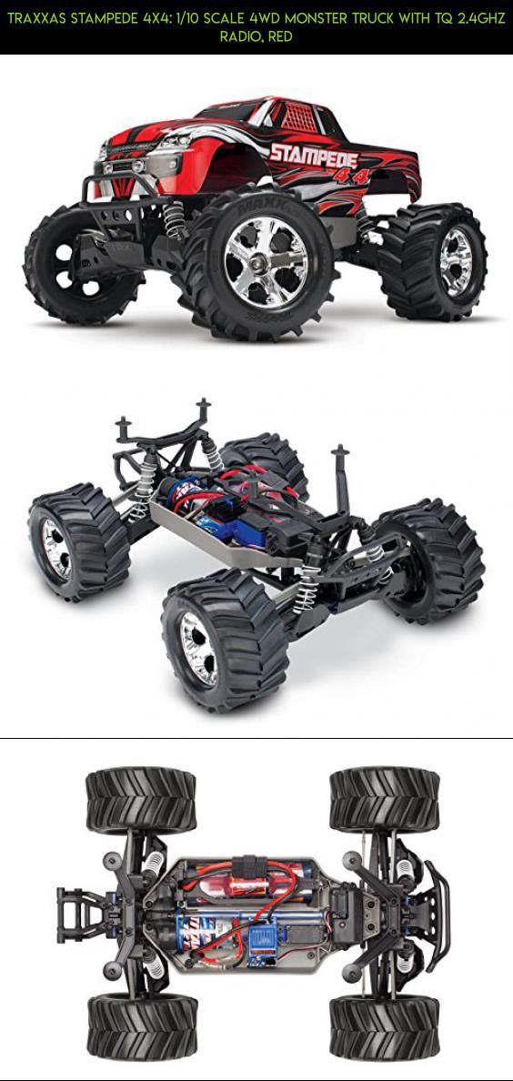 Traxxas Stampede 4X4: 1/10 Scale 4wd Monster Truck with TQ 2.4GHz Radio, Red #drone #racing #gadgets #tech #fpv #plans #parts #camera #products #technology #shopping #traxxas #kit #off #4x4 #trucks #road