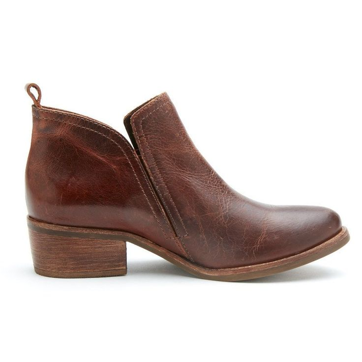 """everyday ankle boot Upper: leather/suede Outsole: man made Shaft Height: 3""""…"""