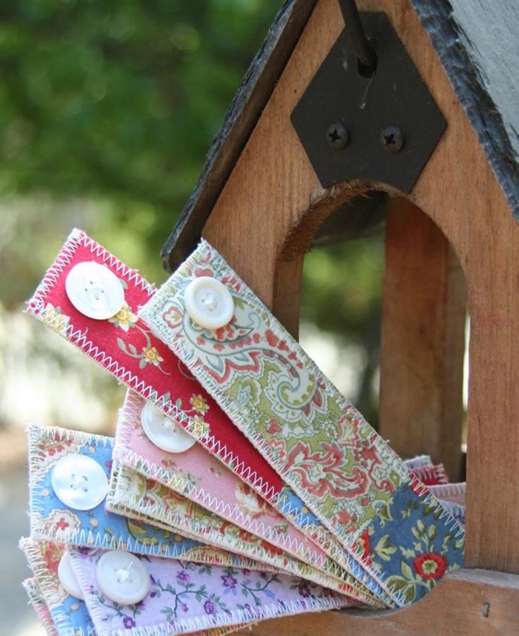 Floral Fabric Bookmark. $3.99, via Etsy.   Bookmark maniac ...
