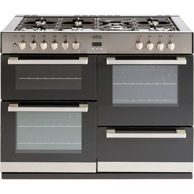 Buy Belling DB4110DF Double Dual Fuel Range Cooker - S/Steel at Argos.co.uk - Your Online Shop for Freestanding cookers, Cooking, Large kitchen appliances, Home and garden.