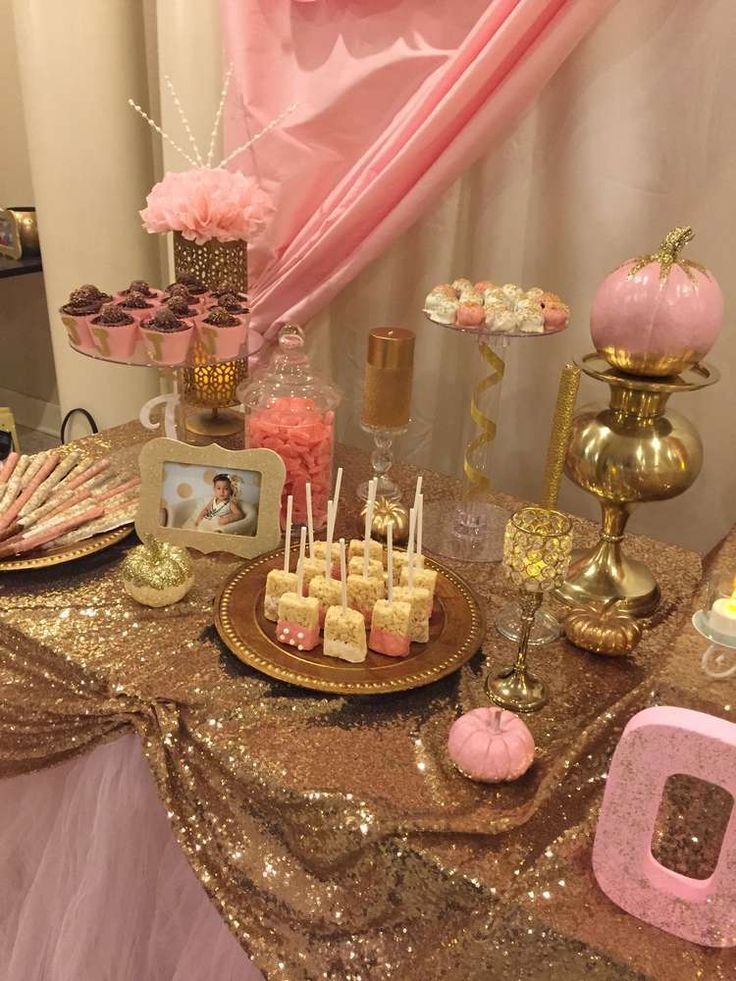 Pink And Gold Bathroom Decor: Pink & Gold Birthday Party Ideas