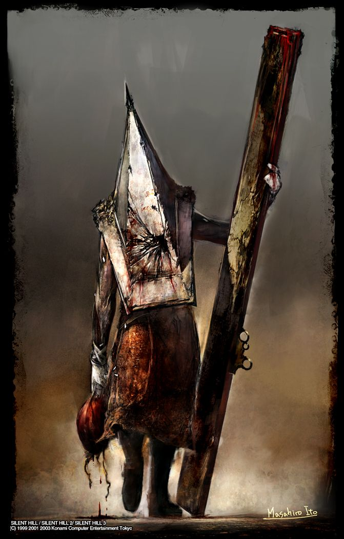 Artwork of the Pyramid Head for the White Hunter (Белый охотник)