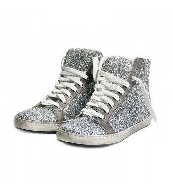 Glittered women's sneakers with leather ornaments and sewed rubber sole. vintage used effect.   http://shop.mangano.com/en/shoes/16442-ginnica-robin-tir02glitter-ar.html  #fashion #shoes