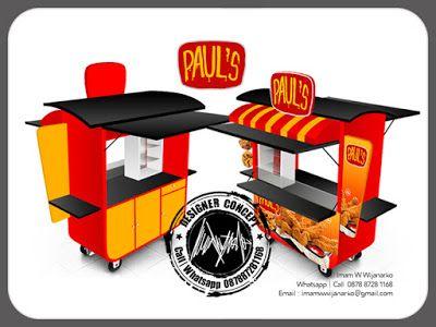 Desain dan Produksi Gerobak: Desain Gerobak Fried Chicek Pauls