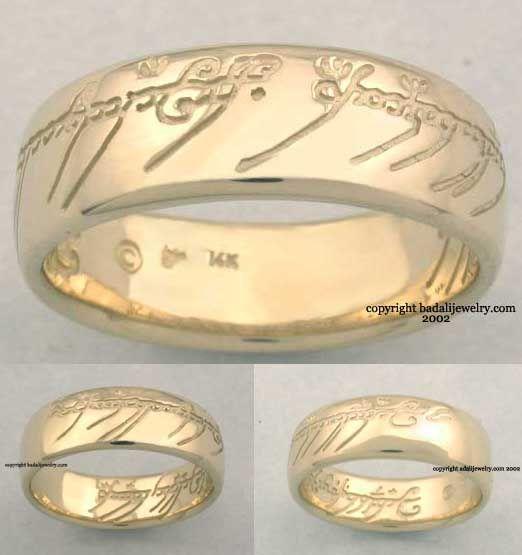Hobbit wedding ring
