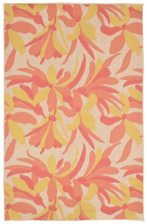 Playa Floral Tropical Area Rug - Warm Shades
