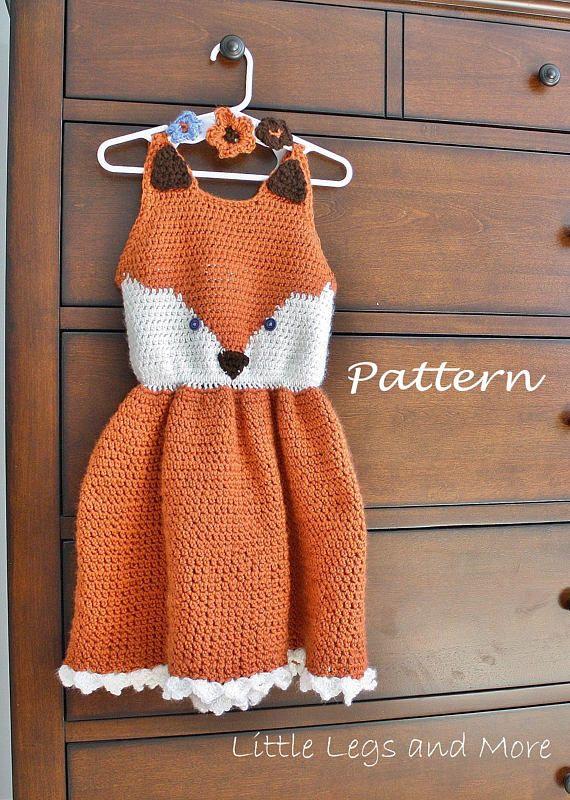 Crochet Pattern- Reyna Dress. Child sizes 2, 4, 6, 8 and 10!