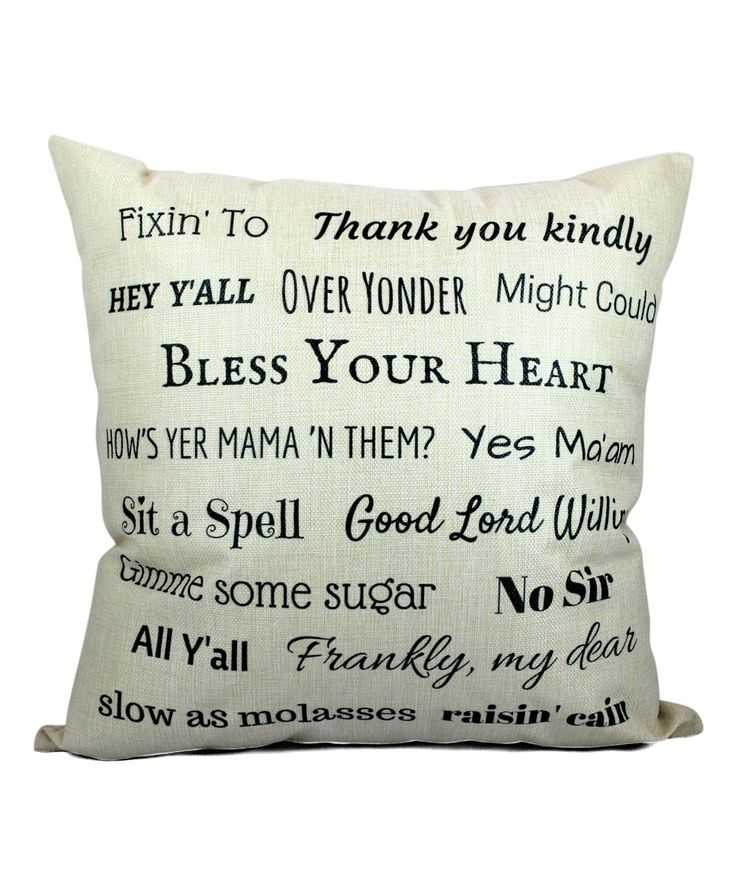 Say It Southern Cottage Throw Pillow