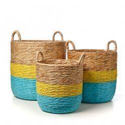 Adairs Kids Nash Woven Baskets Aqua